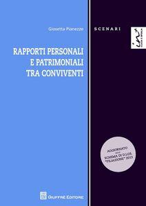 Libro Rapporti personali e patrimoniali tra conviventi Giosetta Pianezze