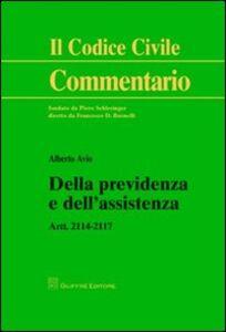 Libro Della previdenza e dell'assistenza. Artt. 2114-2117 Alberto Avio