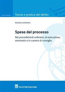 Libro Spese del processo. Nei procedimenti ordinario, di esecuzione, sommario e in camera di consiglio Rosaria Giordano
