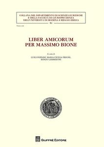 Libro Liber amicorum per Massimo Bione