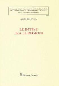 Libro Le intese tra le regioni Alessandro Sterpa