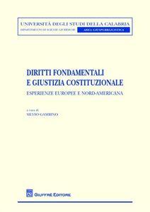 Libro Diritti fondamentali e giustizia costituzionale. Esperienze europee e nord-americana