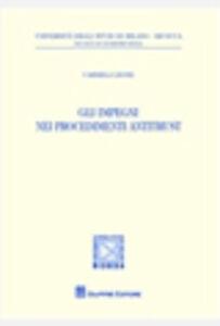 Libro Gli impegni nei procedimenti antitrust Carmela Leone