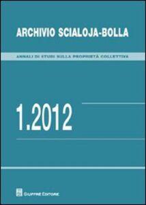Libro Archivio Scialoja-Bolla (2012). Vol. 1