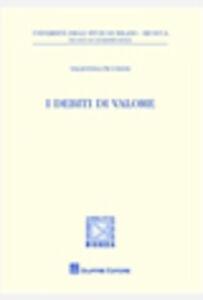 Libro I debiti di valore Valentina Piccinini