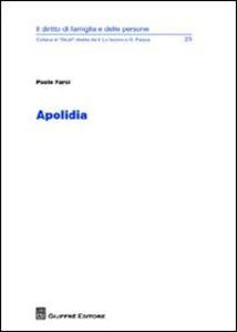 Foto Cover di Apolidia, Libro di Paolo Farci, edito da Giuffrè