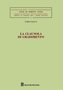 Libro La clausola di gradimento Dario Farace