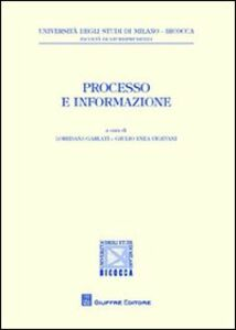 Foto Cover di Processo e informazione, Libro di  edito da Giuffrè