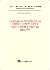 L' energia fra diritto internazionale e diritto dell'Unione Europea. Disciplina attuale e prospettive di sviluppo