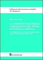 La componente immateriale e organizzativa del sistema di controllo aziendale. Una proposta di analisi e misurazione delle condizioni di efficacia