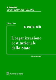 Criticalwinenotav.it Il sistema costituzionale italiano. Vol. 1: organizzazione costituzionale dello Stato, L'. Image
