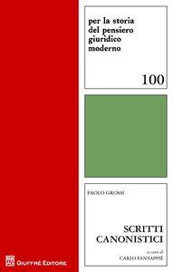 Libro Scritti canonistici Paolo Grossi