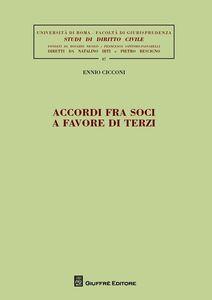 Libro Accordi fra soci a favore di terzi Ennio M. Cicconi