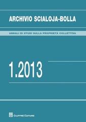 Archivio Scialoja-Bolla (2013). Vol. 1