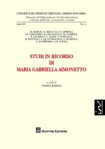 Libro Studi in ricordo di Maria Gabriella Aimonetto