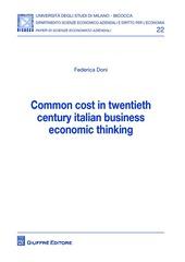Common cost in twentieth century italian business economic thinking