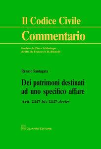 Libro Dei patrimoni destinati ad uno specifico affare. Artt. 2447 bis-2447 decies Renato Santagata De Castro