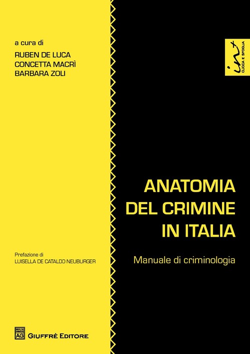 Image of Anatomia del crimine in Italia. Manuale di criminologia