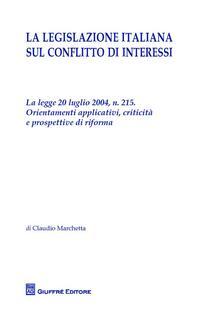 La legislazione italiana sul conflitto di interessi