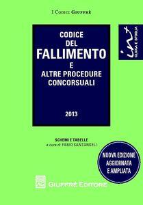 Foto Cover di Codice del fallimento e altre procedure concorsuali, Libro di  edito da Giuffrè