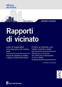 Libro Rapporti di vicinato Cristiano De Giovanni