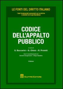 Codice dell'appalto pubblico