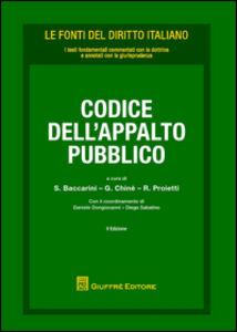 Libro Codice dell'appalto pubblico