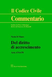 Libro Del diritto di accrescimento. Art. 674-678 Nicola Di Mauro