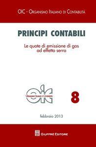 Libro Principi contabili. Le quote di emissione di gas ad effetto serra