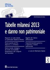 Tabelle milanesi 2013 e danno non patrimoniale