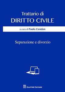Libro Separazione e divorzio