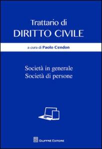 Libro Società in generale. Società di persone