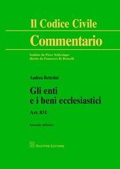 Gli enti e i beni ecclesiastici. Art. 831