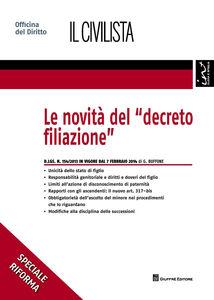 Libro Le novità del «decreto filiazione» Giuseppe Buffone