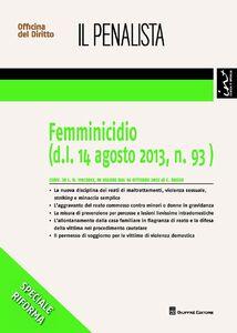 Foto Cover di Femminicidio, Libro di Carmine Russo, edito da Giuffrè