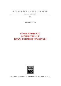 Libro Inadempimento contrattuale danni e rimedi opzionali