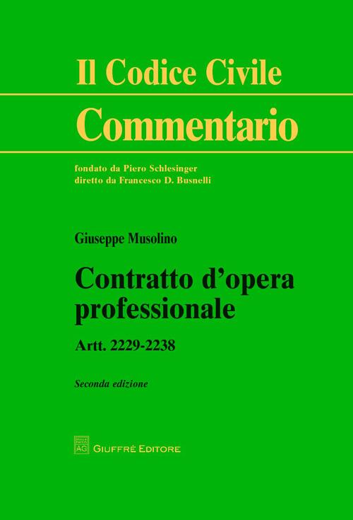 Contratto d'opera professionale. Artt. 2229-2238