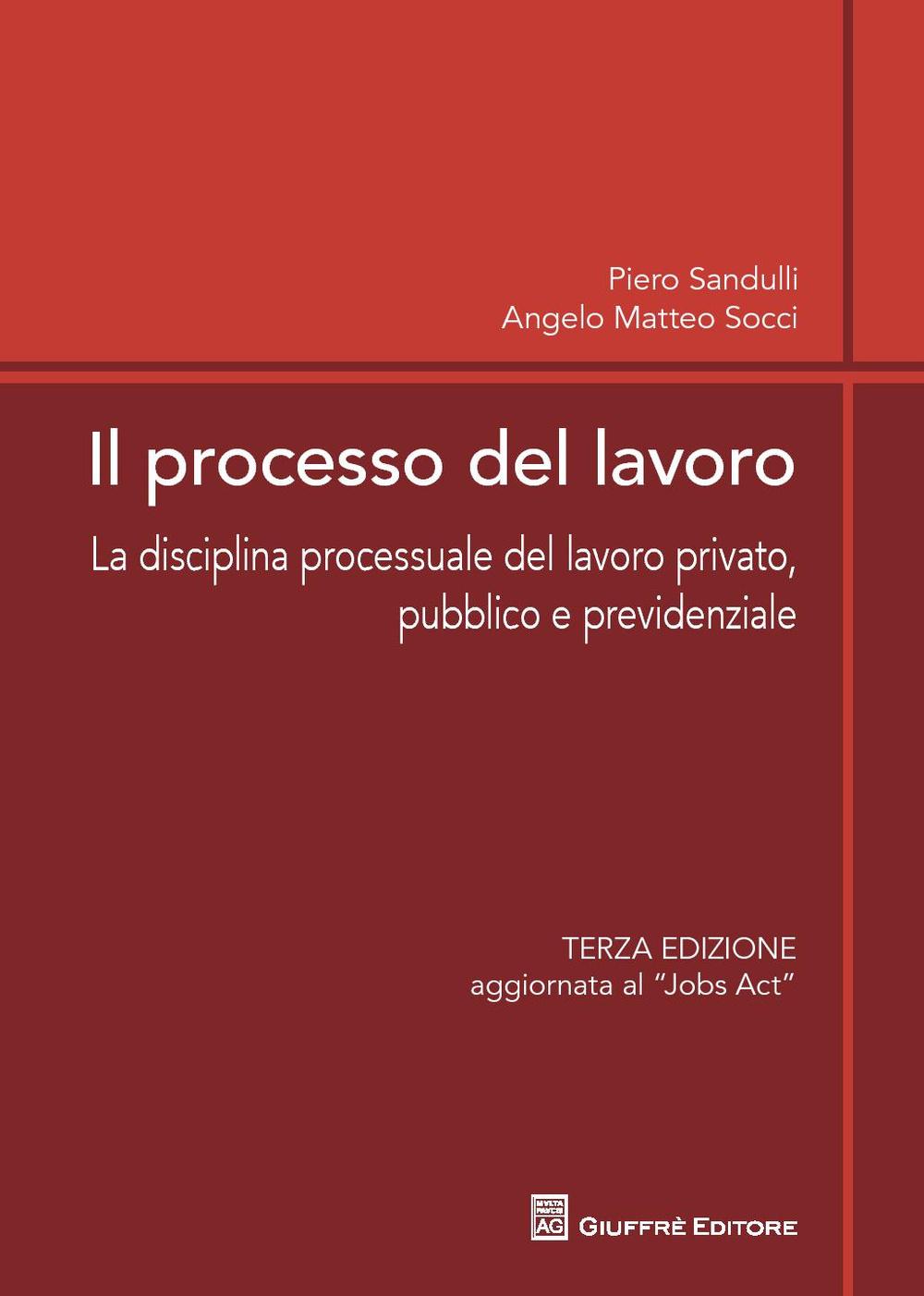Il processo del lavoro. La disciplina processuale del lavoro privato, pubblico e previdenziale