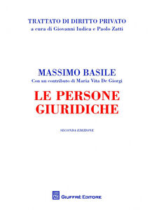 Libro Le persone giuridiche Massimo Basile