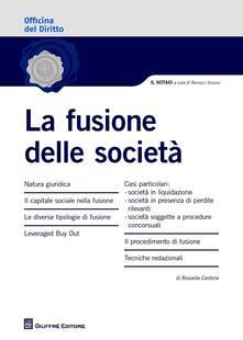 La fusione delle società - Rossella Cardone - copertina