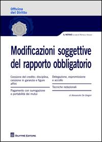 Modificazioni soggettive del rapporto obbligatorio