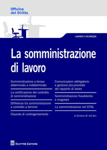 Libro La somministrazione di lavoro Emiliana Dal Bon