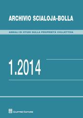 Archivio Scialoja-Bolla (2014). Vol. 1