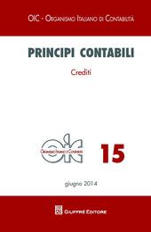 Principi contabili. Vol. 15: Crediti.