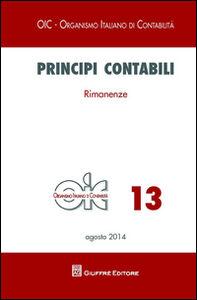 Foto Cover di Principi contabili. Vol. 13: Rimanenze., Libro di  edito da Giuffrè