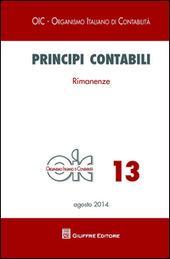 Principi contabili. Vol. 13: Rimanenze.
