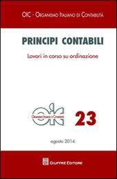 Principi contabili. Vol. 23: Lavori in corso su ordinazione.