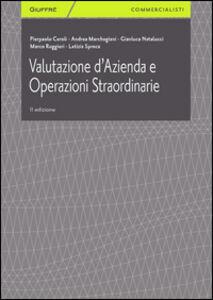 Libro Valutazione d'azienda e operazioni straordinarie