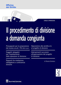 Libro Il procedimento di divisione a domanda congiunta Rosaria Giordano