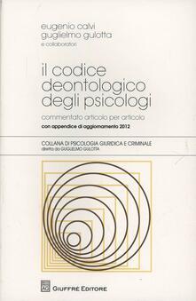 Il codice deontologico degli psicologi - copertina